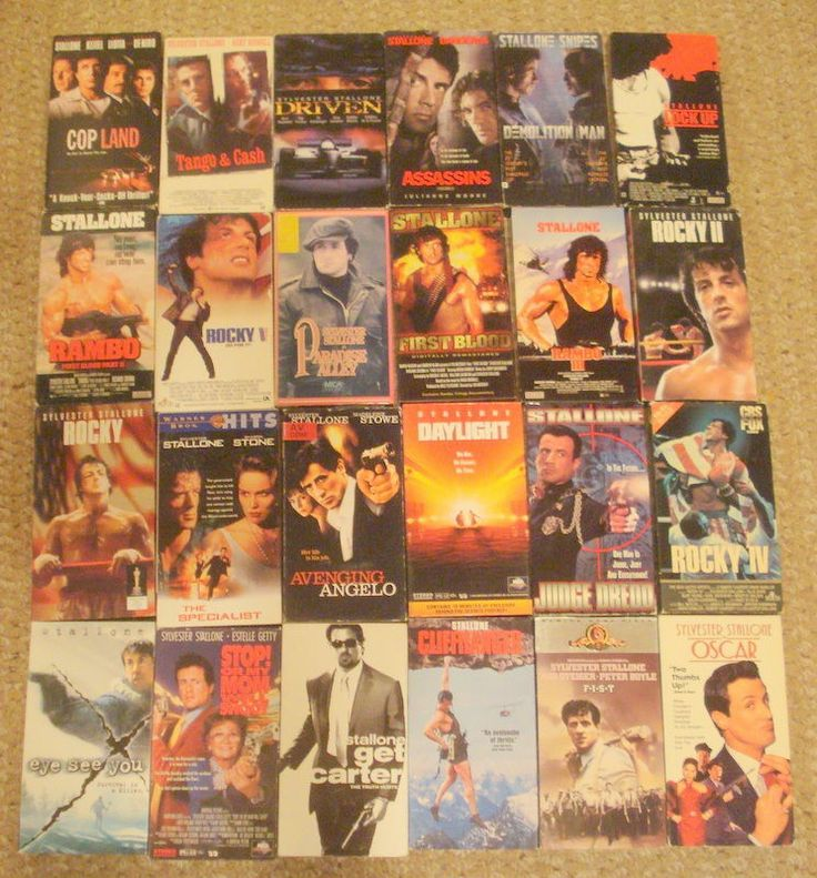 24 STALLONE MOVIES-ROCKY-RAMBO-F.I.S.T.-ASSASSINS-VHS
