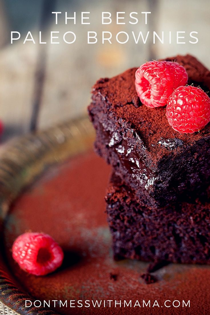 The Best Paleo Brownies - so rich, decadent, flavorful and Paleo and gluten free - DontMesswithMama.com