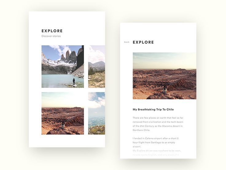 EXPLORY - Story App by Julian Herbst #Design Popular #Dribbble #shots