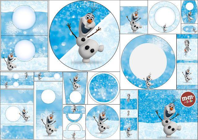 Olaf: Etiquetas para Candy Bar para Imprimir Gratis. | Ideas y material gratis para fiestas y celebraciones Oh My Fiesta!
