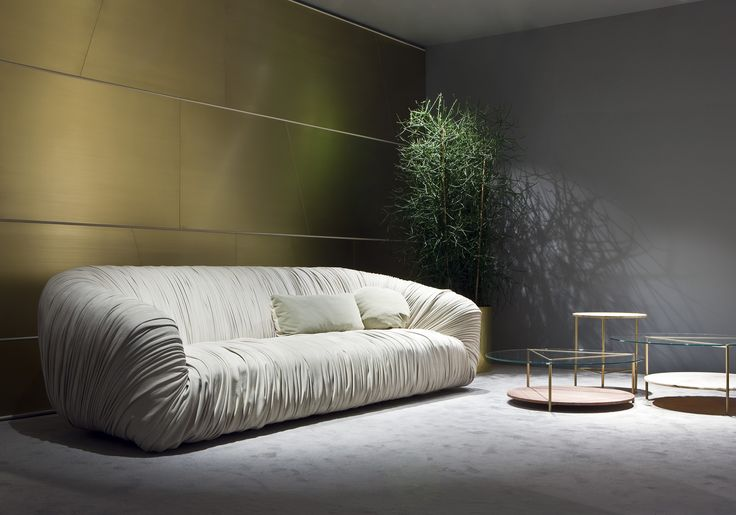 Milan Design Week 2016. Drapé Sofa and Echo Coffee tables by Bartoli Design   Laurameroni
