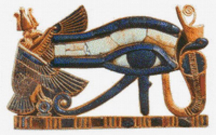 """Le régime broderie """"Eye of Horus"""" - Plans auteur «Leliana» - Point de Croix"""
