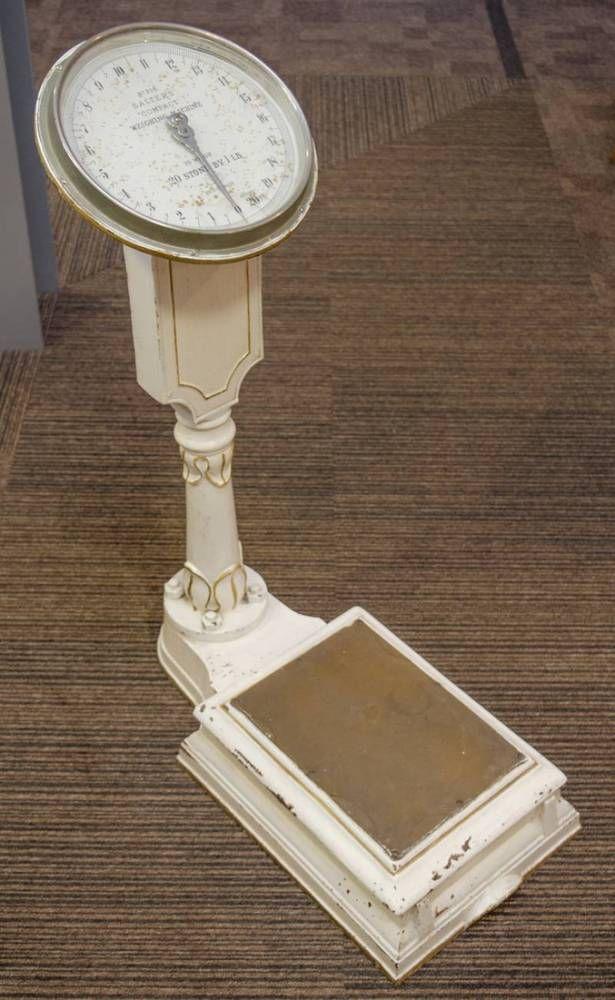 Vintage bathroom scales