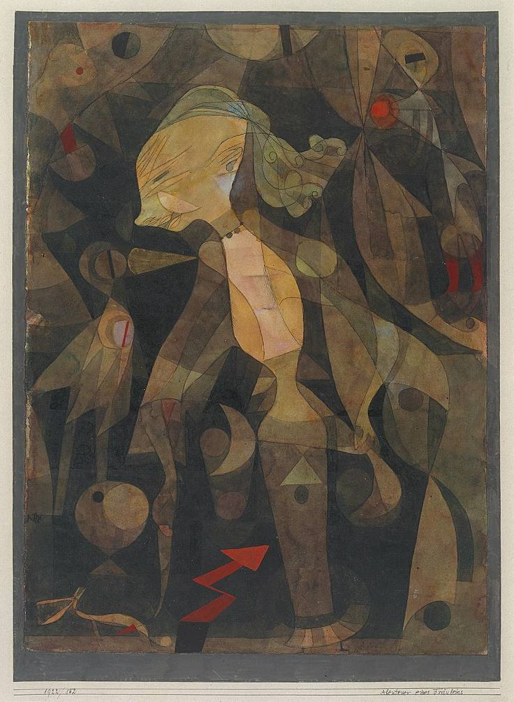 Paul Klee, 'A Young Lady's Adventure' 1922