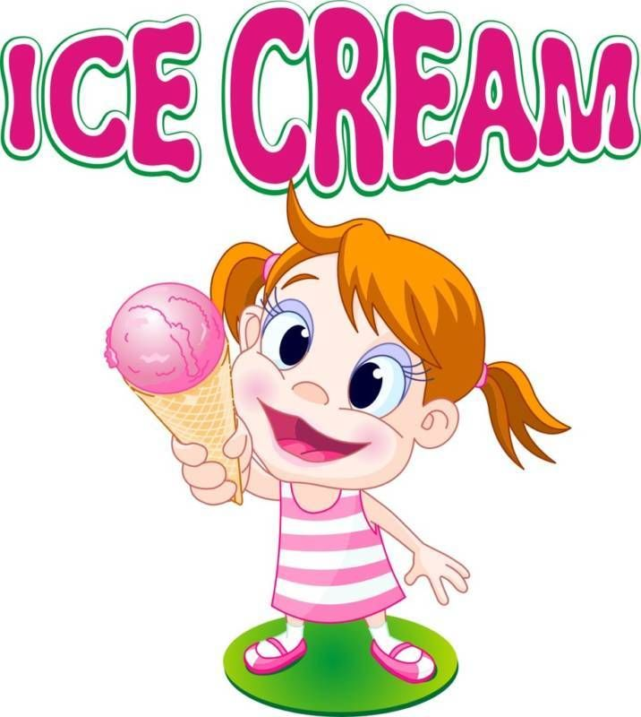 """Ice Cream Decal 14"""" Concession Restaurant Food Sign #harbourSigns"""