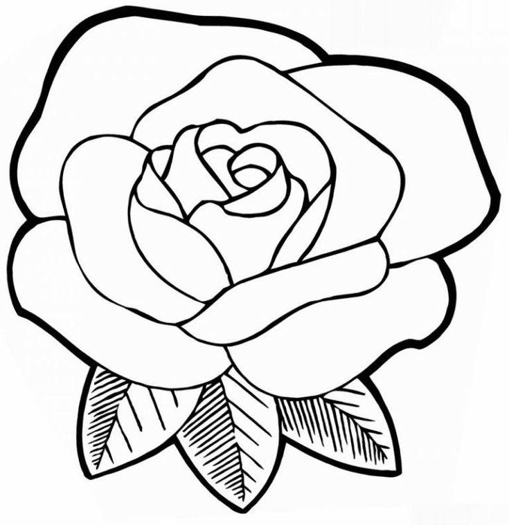Розы открытка раскраска