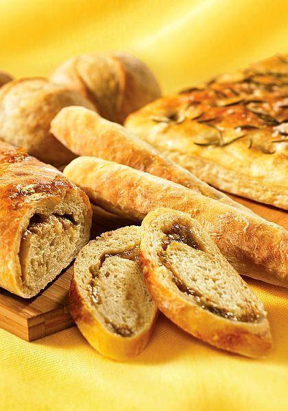 Fig and Kashkaval Cheese Bread Recipe - Recipe for Fig and Kashkaval Cheese