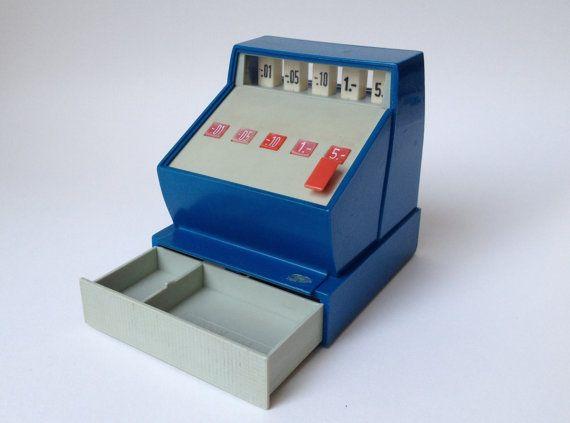 Vintage enfants jouets caisse enregistreuse seventies