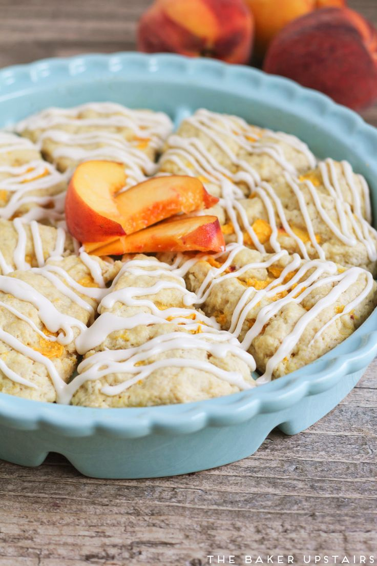 I love scones. And I love peaches. So what could be better than combining them into a delicious, delicate, and tender peaches and crea...