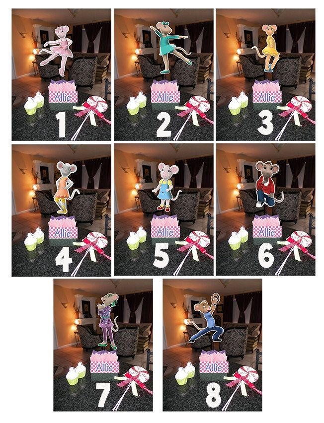 """DIY 12"""" Small Angelina Ballerina Birthday Party Centerpieces with FREE Supply Kit baby shower 1st Birthday Mitzvah Ballet. $10.00, via Etsy."""