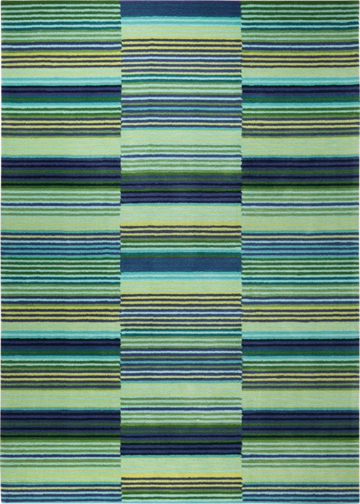 Colorpop - ESPRIT - Blauw - moderne tapijten - ref. ESP-2839-06  Prachtig handgetuft modern tapijt van Esprit in het blauw - broken stripes met als afmetingen '200 x 200 cm' (vierkant)  EUR 689.00  Meer informatie