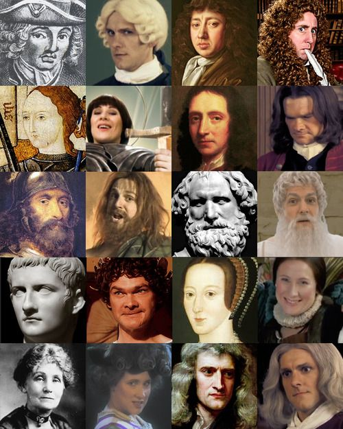 Horrible Histories actors and the real people :)