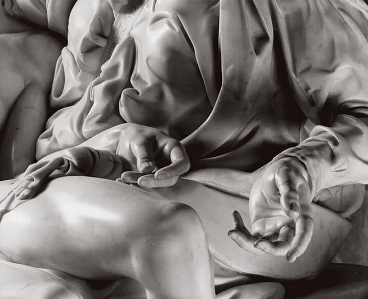 5. Close up of the Pietà, Michelangelo