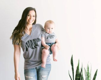 Mama Bear T-shirt Hand-lettered Typographic Whimsical Bear