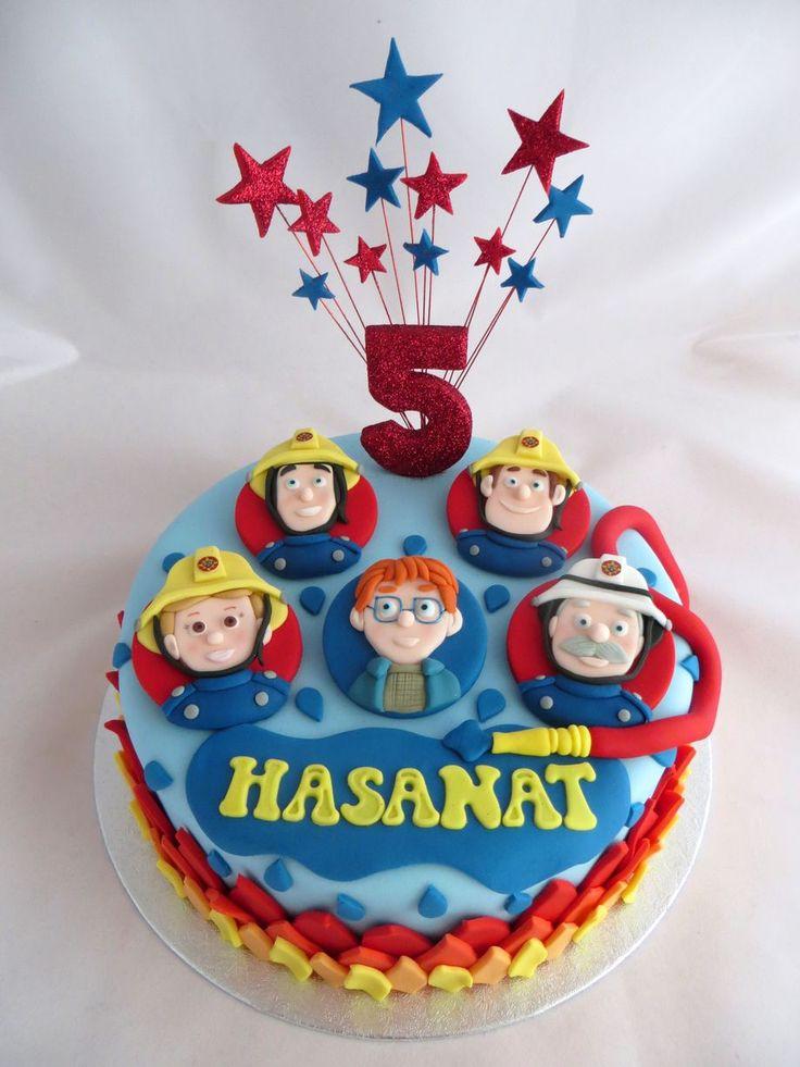 Fireman Sam cake by Caroline Shaw, Huddersfield