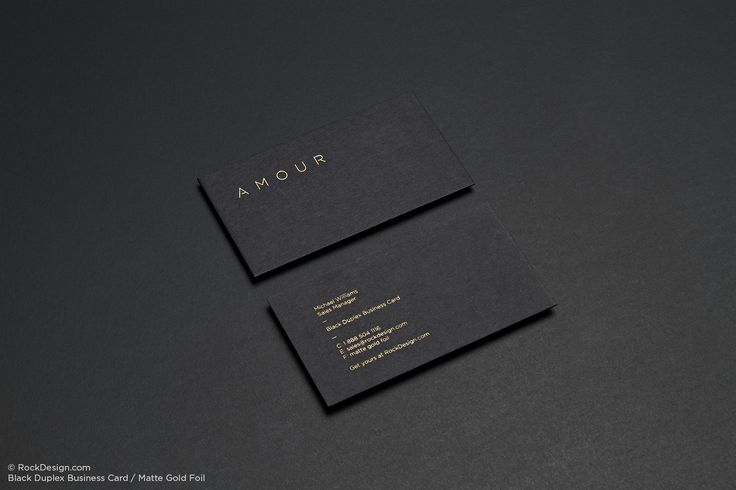 Black Business Cards | RockDesign Luxury Business Card Printing