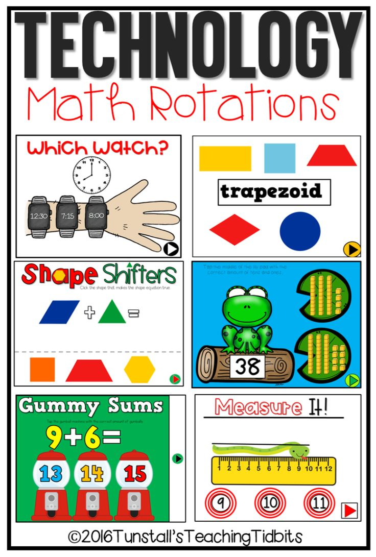 technology math games, games for math rotations, math technology apps for kindergarten, first grade, second grade