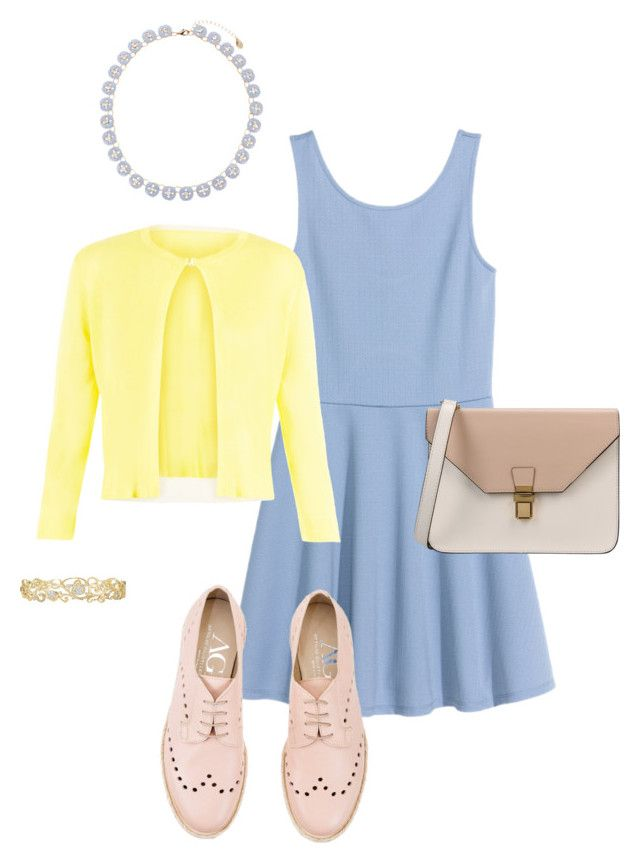 Colori pastello by rainbowfra on Polyvore featuring polyvore fashion style Damsel in a Dress Attilio Giusti Leombruni 8 Accessorize Effy Jewelry clothing