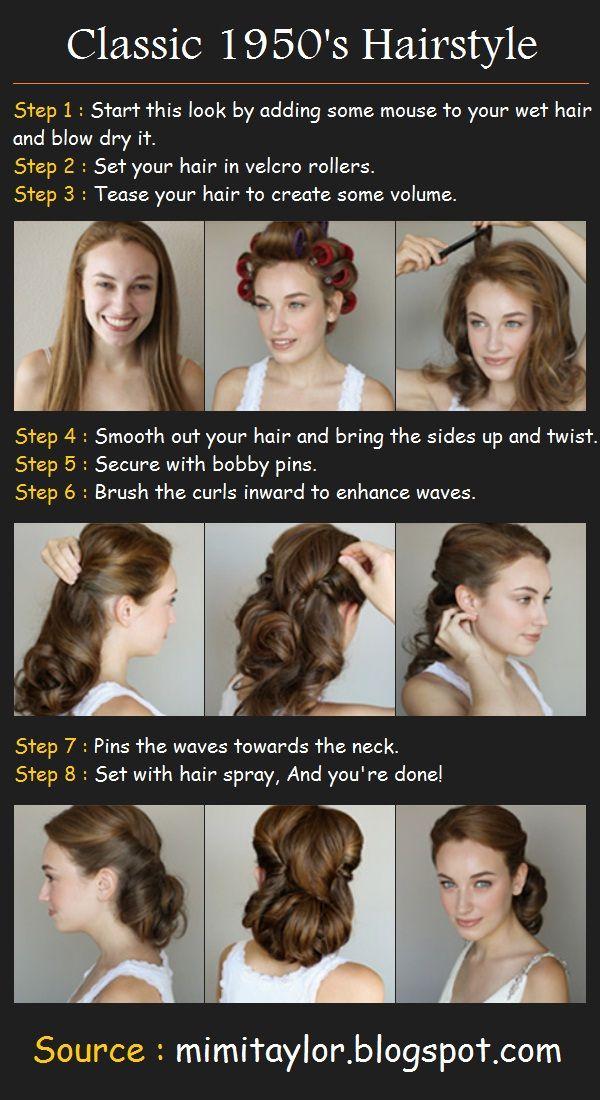 Classic 1950's Hair Tutorial.   http://beauty-tutorial.blogspot.com/2012/11/classic-1950s-hair-tutorial.html