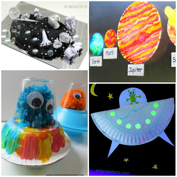 20 Outer Space Crafts For Kids | Lesson Ideas | Space ...