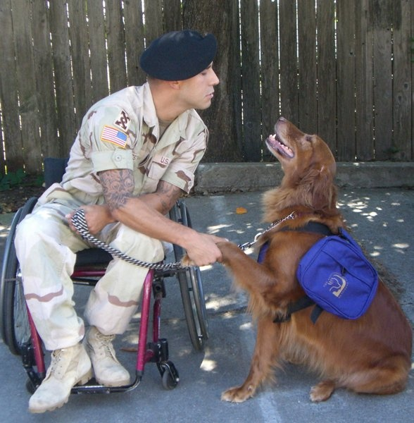 The unshakeable bond between a veteran and his service dog. This pairing between John and Autumn was made possible by one of our grantees, Paws for Purple Hearts: www.pawsforpurplehearts.org.