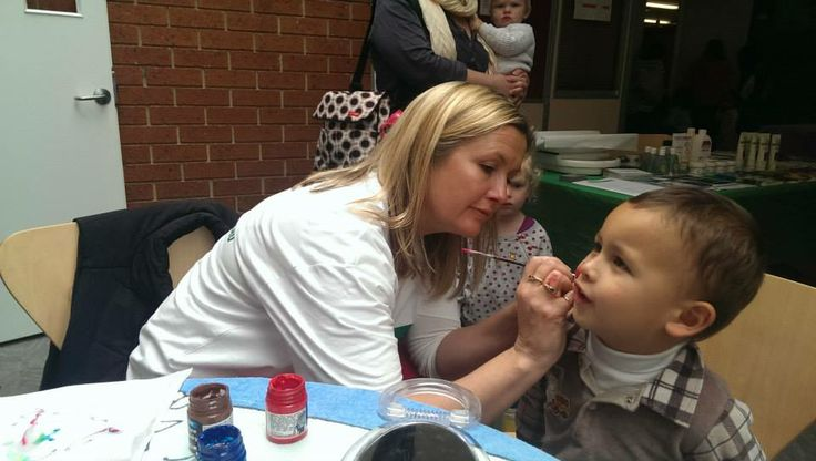 Kelly Amor face painting at the Patterson Lakes Community Centre.