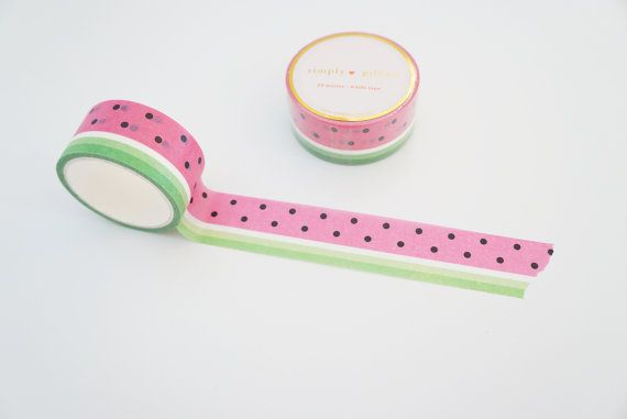 Juicy Watermelon Washi tape Hawaii Aloha by SimplyGildedCo on Etsy