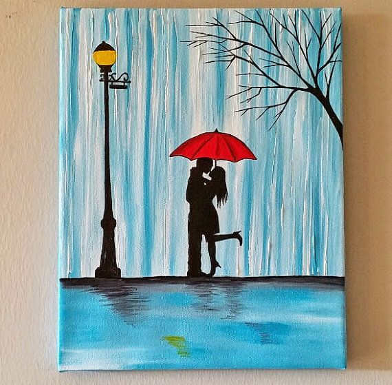 Rain of happiness oil on canvas google search it 39 s a for Cute watercolor paintings