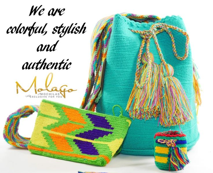 Shop your stylish and handmade Wayuu Bag on www.molago.de #wayuu #bag #tasche #handmade #handgemacht #molago #mochila #taschen #mode #fashion