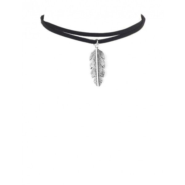 COLOURS OF THE WIND FEATHER CHOKER (£3.99) ❤ liked on Polyvore featuring jewelry, necklaces, accessories, choker, colares, feather charm, feather necklace, adjustable cord necklace, long charm necklace and long feather necklace