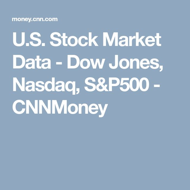 U.S. Stock Market Data - Dow Jones, Nasdaq, S&P500 - CNNMoney