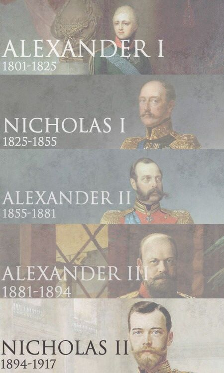 Romanov Tsars that ended with the  Revolution and murder of Nicholas II and his family..