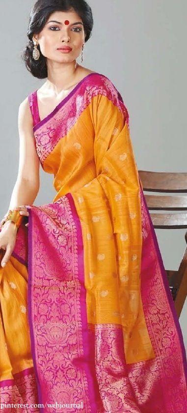 Benarasi silk - love the border - thought not digging the body design