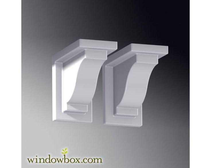 Decorative Wall Brackets | Provincial Decorative Brackets   White (2pk)