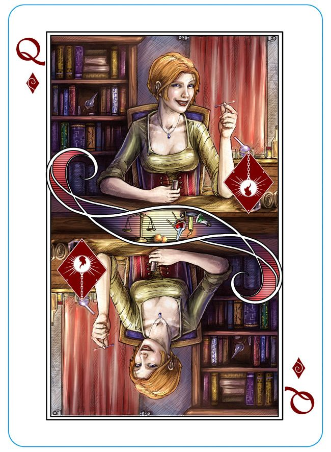 Devi from The Name of the Wind Playing Cards by Erik Dahlman — Kickstarter (Kingkiller Chronicle Fan? VISIT https://www.facebook.com/eoliantavern)