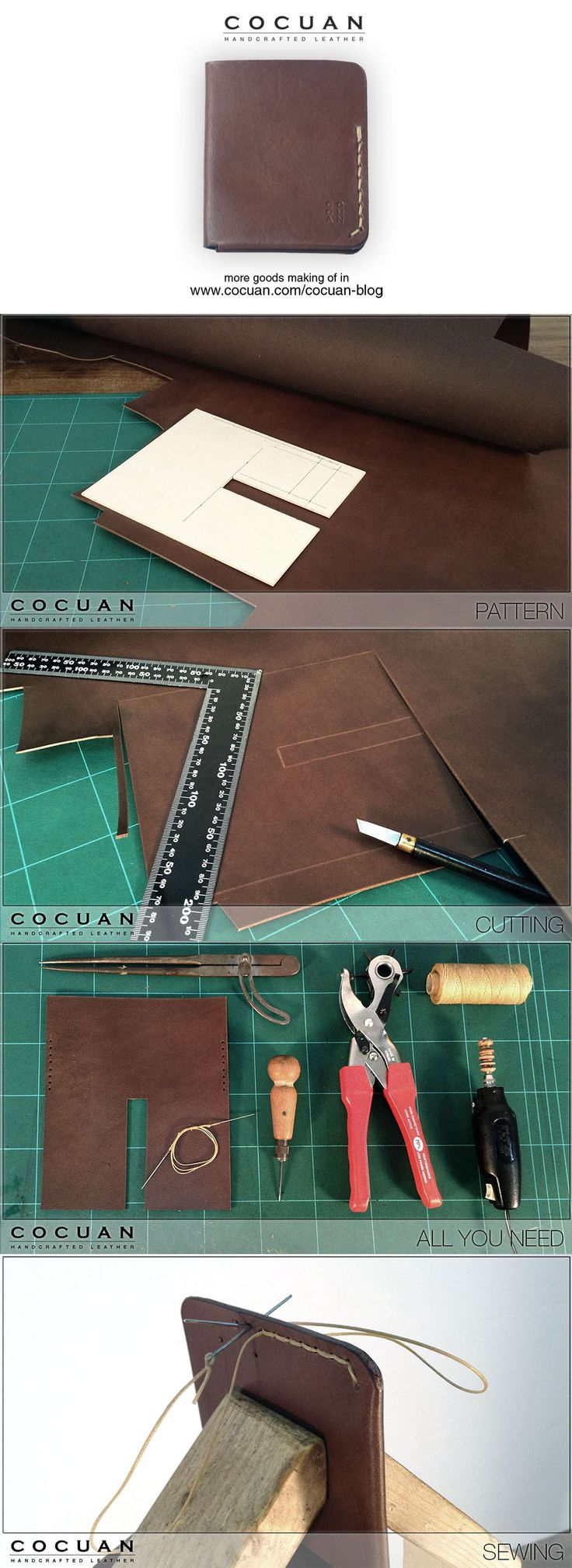 The making of bifold wallet