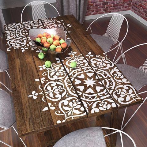 Round Symmetrical Mandala – Wall Stencil – Wall & Furniture Stencil – Anne Law