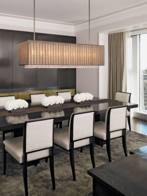 Sensational House Interior For Young People Astonishing Dining Room With Modern Chandelier Michigan Avenue Pied à Terre