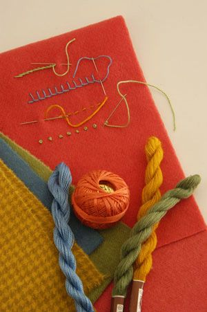Wool  Applique' Tips: Wool Felt, Felt Wool, Wool Applique, Pretty Colors, Sewing Stitches, Colors Combinations, Hands Embroidery Stitches, Wool Embroidery, Slideshow Image