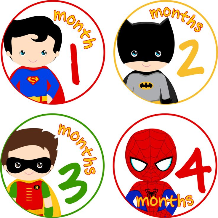 Baby Month Stickers Baby Monthly Stickers by LittleLillyBugDesign, $9.00