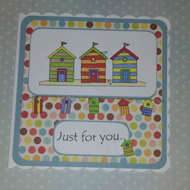 Little Claire Beach Huts Card This card is on my Facebook page. https://m.facebook.com/cutelittlecraftsbyjenny?v=info