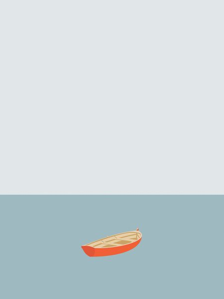 OCEAN SVØMMERE No.01 (Boat) Art Print