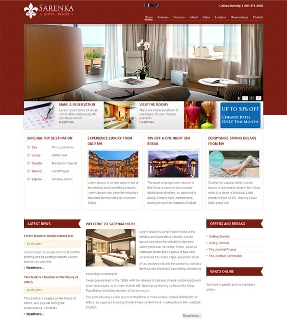 8 best 8 of the best joomla hotel templates images on for Joomla hotel template
