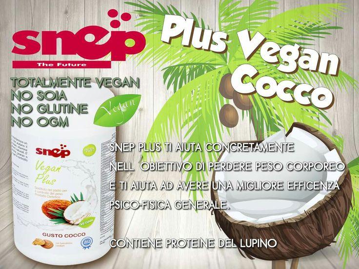 Plus totalmente Vegano al gusto cocco, contiene proteine del Lupino, ideale per la colazione bilanciata ma anche per la sostituzione di un pasto. Per Info contatta il tuo incaricato di fiducia o visita il sito www.mysnep.com