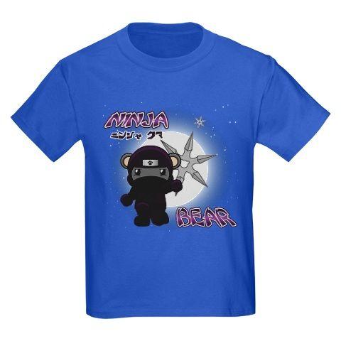 Secret Bear World - Kickstarter Rewards - Royal Blue Ninja Bear T-Shirt