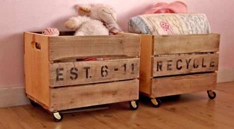 awesome toy bin made from pallets