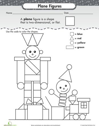 Worksheets, Shape and Planes on Pinterest