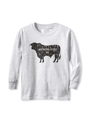 69% OFF Little Dilascia Kid's Meatpacking District Long Sleeve Tee (Grey)