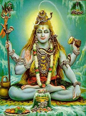 Shiva is the destroyer.  She is young and beautiful, yet holds the power to destroy the life on the earth.  She is a god as well as Vishnu and Brahma.