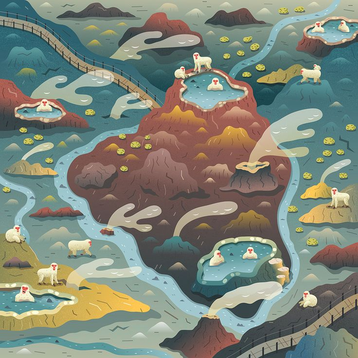 Two Dots Games Illustrated Maps on Behance